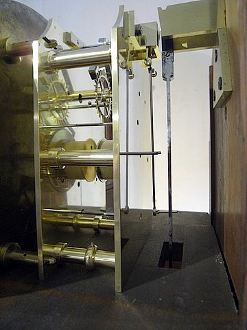 19th century London regulator longcase - mechanism 2