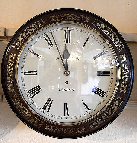 19th century chain fussee dial clock by Allen of London