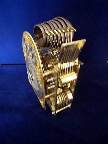 19th century musical bracket clock Westminster Cambridge chimes - bells