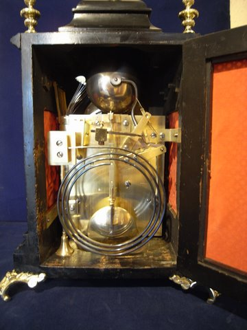 19th century musical bracket clock Westminster Cambridge chimes - rear