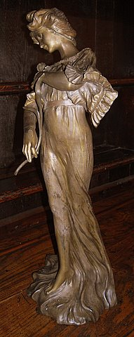 Art Nouveau spelter figure Iris - right