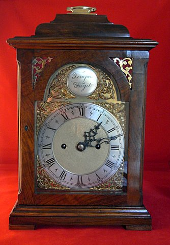 Victorian bell top bracket clock mahogany case